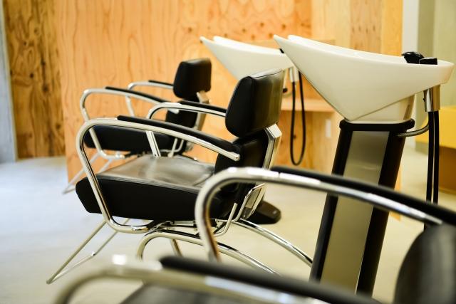 美容室の椅子